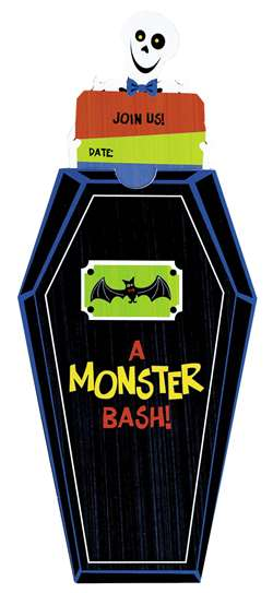 Monster Bash Novelty Invitations | Party Supplies