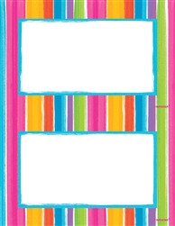 Bold Stripe 2-Up Imprintable Paper | Party Supplies