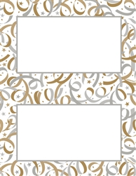 Classic Streamers 2-Up Imprintable Paper | Party Supplies