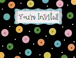 Glitter Dots Novelty Invitations | Party Supplies
