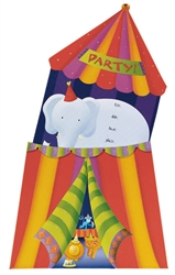 Circus Jumbo Specialty Invitations | Party Supplies
