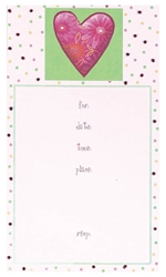 Calico Heart Fill-In Imprintable Invitation | Party Supplies