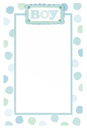 Polka Dot Boy Imprintable Invitation | Party Supplies
