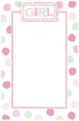 Polka Dot Girl Imprintable Invitation | Party Supplies