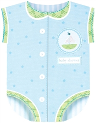 Blue Onesie Large Novelty Invitation | Party Supplies