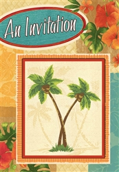 Palm Tree Party Folded Invitations | Party Supplies