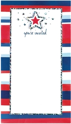 American Summer Small Imprintable Invitation | Party Supplies