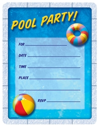 Pool Party Invitations | Party Supplies