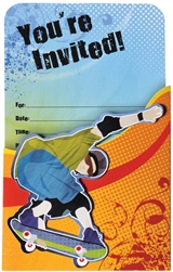 Born to Skate Large Novelty Invitation | Party Supplies