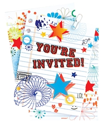 School Dayz Large Novelty Invitations | Party Supplies