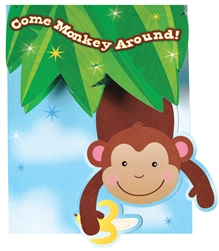 Monkey Business Large invitations | Party Supplies