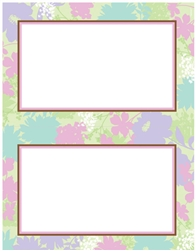 Floral Celebration 2-Up Imprintable Paper | Party Supplies