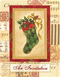 Elegant Stockings Postcard | Party Supplies
