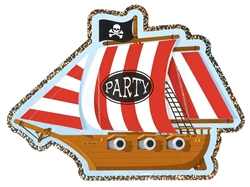 Jolly Roger Jumbo Prismatic Novelty Invitation | Party Supplies