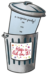 Keep A Lid On It Jumbo Foil Novelty | Party Supplies
