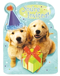 Puppy Jumbo Novelty Invitations | Party Supplies