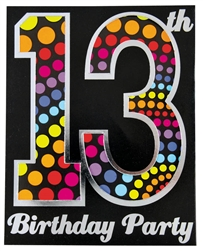 Happy 13th Birthday Large Novelty Invitation | Party Supplies