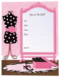 Fashionista Large Novelty Fillable Invitation | Party Supplies