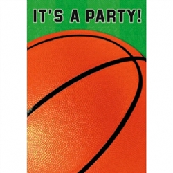 Basketball Fan Folded Invitation | Party Supplies