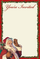 Jolly St. Nick Note Cards w/Envelopes | Party Supplies