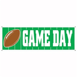 Game Day Football Sign Banner