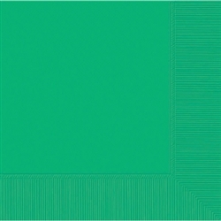 Festive Green 3-Ply Beverage Napkins - 20ct | Party Supplies
