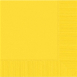 Yellow Sunshine 3-Ply Beverage Napkins - 20ct | Party Napkins