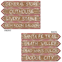 Western Sign Cutouts