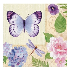 In The Garden Beverage Napkins | Party Supplies