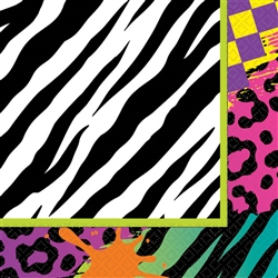 Totally 80's Beverage Napkins | Party Supplies