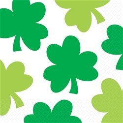 Shamrock Shimmer Beverage Napkins | Party Supplies