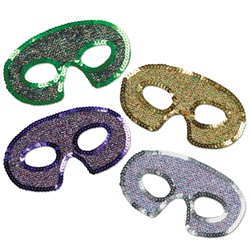 Sequin-Lame Half Masks