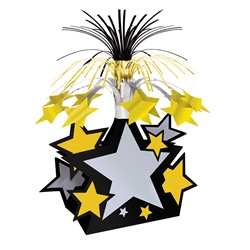 Black, Gold & Silver Star Centerpiece