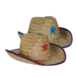 Child Cowboy Hats with Plastic Star & Chin Strap