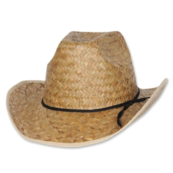 Hi-Crown Western Hat with Shoelace Band
