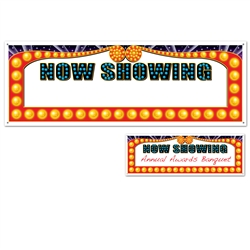 Now Showing Blank Sign Banner