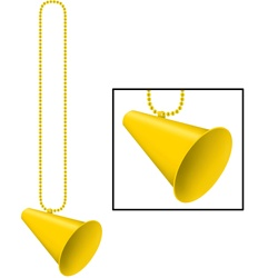 Yellow Beads with Megaphone Medallion