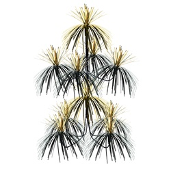 Black & Gold Firework Chandelier