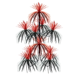 Black & Red Firework Chandelier