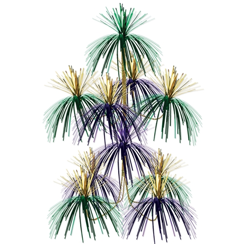 Green Gold And Purple Firework Chandelier Mardi Gras Decorations