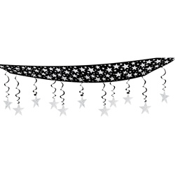 The Stars Are Out Black & Silver Ceiling Decor