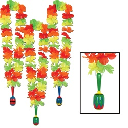 Fiesta Lei with Maraca Medallion
