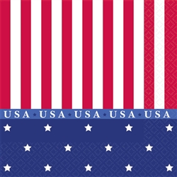 American Classic Beverage Napkins | Patriotic Party Supplies