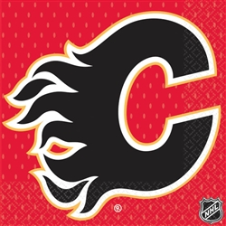 Calgary Flames Beverage Napkins | Party Supplies