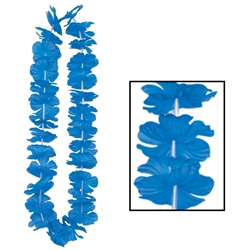 Blue Silk 'N Petals Party Lei