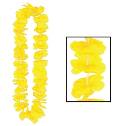Yellow Silk 'N Petals Party Lei