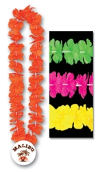"36"" Silk 'N Petals Leis with Custom Imprinted Paper Medallion"