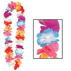 Silk 'N Petals Parti-Color Lei | Party Supplies