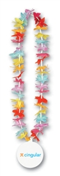 "40"" Floral Leis with Custom Imprinted Paper Medallion"