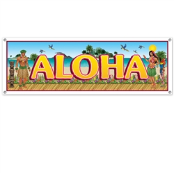 Tropical Beach Sign Banner